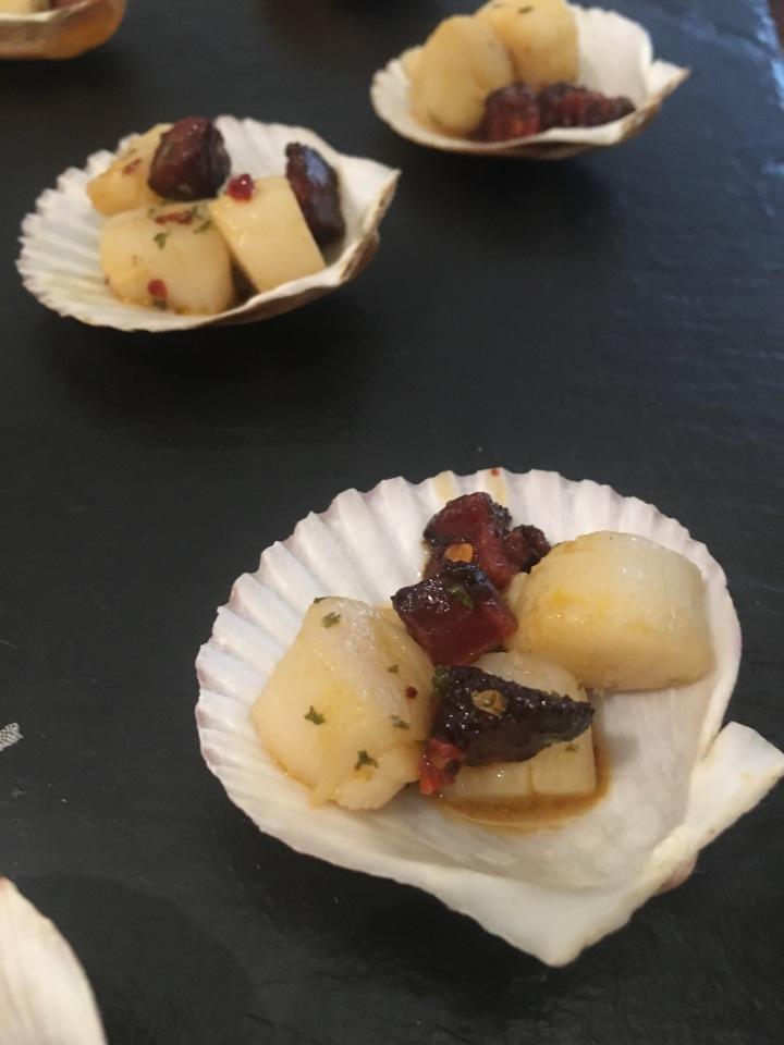 Scallop & ChorizoShells