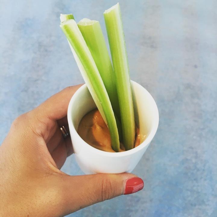 Celery & Peanut ButterShots
