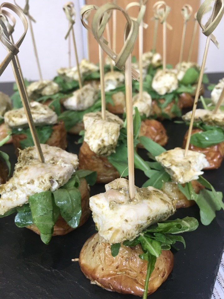 Pesto Chicken & Potato Bites