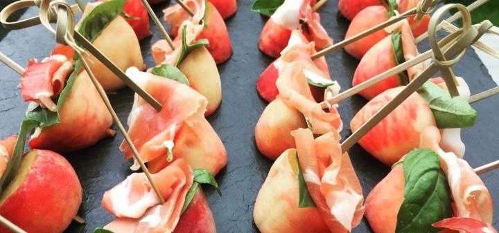 Peach, basil & serranoham